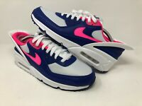 Nike Air Max 90 Flyease CU0814 101 Hyper Pink Deep Royal Blue White Size 11.5