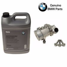 For BMW E82 E88 E90 E91 Engine Water Pump w/ Bolts & 1 Gallon Antifreeze Genuine