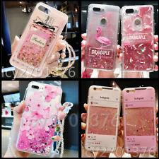 Dynamic Liquid Glitter Quicksand Soft back Phone Case For iPhone Samsung & strap
