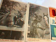 Vtg 1953 ROY ROGERS POST SUGAR CRISP 3-D GLASSES AND CARDS