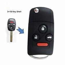 Flip Remote Key Shell Case 3+1B Fob for Honda Accord Civic Pilot W/ Button Pad