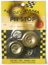 1965 K&B Aurora 1:24 Slot Car Pit Stop Parts LOLA T-70 POSI-LOK WHEEL SET 244 FR