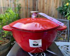 Staub Cast Iron Dutch Oven Cherry Red Heart 2 Qt 20 New