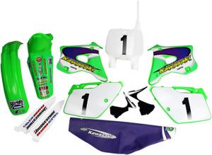 UFO KAWASAKI KX 125 250 Motocross Panneaux Latéraux 1992-1993 Vert