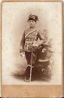 CAB photo Soldat / Husar mit Pelzmütze - Luzern 1890er