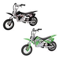 Razor MX400 Dirt Rocket 24V Electric Toy Dirt Bikes, 1 Black & 1 Green