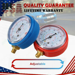 Pair HVAC Air Condition R410A R134a R22 Refrigerant Low High Pressure Gauge Set