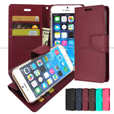 Kickstand Slim Flip Leather Wallet Case Cover Transparent For iPhone Galaxy LG