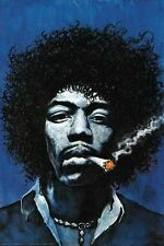JIMI HENDRIX - SMOKING JOINT - ART POSTER 24x36 - WEED MARIJUANA 51824