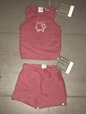 Eeni Meeni Miini Moh Brand Set Matching Top Short Baby Girl Size 0-3months New