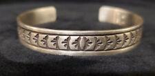 Navajo Handmade Sterling Silver Cuff Bracelet Design -Rick Enrico