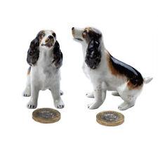 Miniature Ceramic Cocker Spaniel Figurine Ornament (Pack of Two)