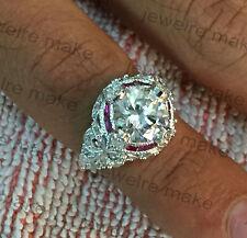 3.00ct White Round Diamond Vintage Art Deco 925 Silver Engagement & Wedding Ring