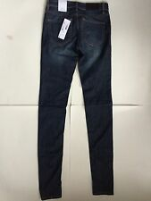 Authentic Lacoste Girls Low Rise Stretch Skinny Fit Jeans 24 Blue MSRP $155 NWT