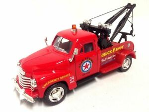 New Kinsmart 1953 Chevrolet 3100 Wrecker 1:38 diecast model toy tow chevy RED