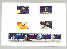 St. Vincent #1204-1210 Apollo 11, Space 8v & 2v s/s imperf proofs mounted