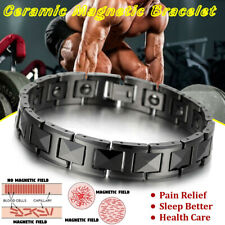 Men Ceramic Magnetic Bracelet Therapy Health Carpal Tunnel Arthritis Pain Relief