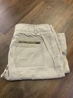 EDDIE BAUER Straight Leg Mid Rise Beige Casual Chino Pants Women's Size 10