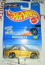 ☆ 'MERCEDES 2.6 SEDAN ☆ HOT WHEELS GOLD BENZ WIRE WHEELS COLLECTOR #605