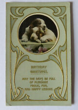 Vintage Springer Spaniel Postcard Birthday Card Tucks
