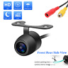 Car Front Side Rear View HD CCD Wired Parking Reverse Backup Camera Night Vision