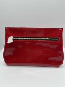 YSL Patent Red Cosmetic Bag New