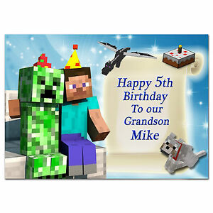 678; Special Personalised Birthday Card; Video game; For any age, relationship