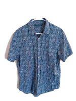 Perry Ellis Mens Button Up Shirt Short Sleeve