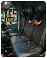 VOLKSWAGEN CRAFTER  SEAT COVERS 2+1 FULL ECO LEATHER + DIAMONDS CUSTOM LOGO