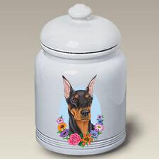 Black and Tan Doberman Pinscher Ceramic Treat Jar Tp 47015