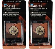 2 x MAYBELLINE 5.37G EYE STUDIO EYESHADOW BIG EYES 01 LUMINOUS BROWN Brand New