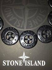 2 X SUPERB NEW STONE ISLAND JACKET 14MM ARM REPLACEMENT BLACK GLOSS BUTTONS