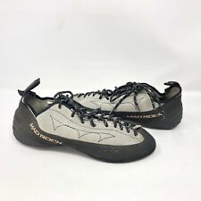 Mad Rock Rock Gray Leather Suede Climbing Shoes Size 11.5 Soles Mountain Climb