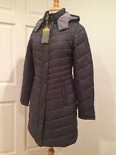 Tek Gear Long Jacket 3/4 Coat Puffer Warm Lightweight Zip Hood Grey S $160 NWT