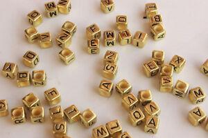 Wholesale!100-200pc Mixed Alphabet/Letter Acrylic Cube Beads 6x6mm Choose color
