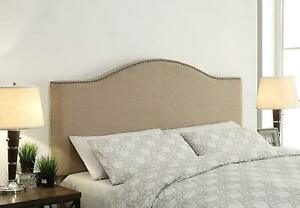 FirsTime Fairfax Linen King Headboard