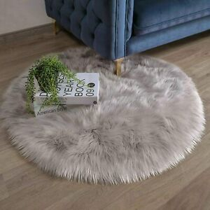 Ashler Ultra Soft Faux Sheepskin Fur Rug White Fluffy Area Rug Shag Rug Carpets