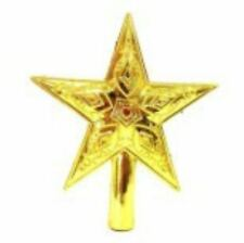 Shiny Decorative Christmas star Tree Topper Medium (Gold)