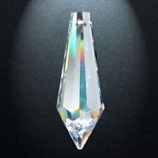 4 Puntale 401 mm.38x13 Cristallo Asfour Pendente per lampadario 30% Pb Ricambio
