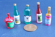 1:12 Escala 5 Mixto espíritu Botellas Casa de muñecas en miniatura Pub-Bar Accesorio