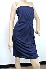 $1950 NEW Authentic Gucci Dress with Drape Navy sz M, 297343