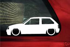 2x LOW Vauxhall Nova / Opel Corsa A GSi, SRi Lowered car  outline stickers