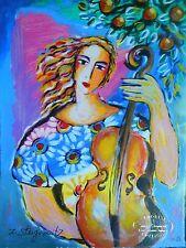 "Zamy Steynovitz, ""Morning Music""-**SALE 25% OFF**- Serigraph, EA 63/65, w/COA"