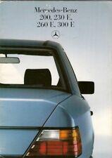 Mercedes-Benz W124 Saloon 1985-87 UK Market Sales Brochure 200 230E 260E 300E