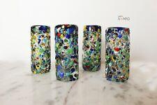 Hand Blown Multicolored Tequila Shot Glass,  Confetti glassware drinkware