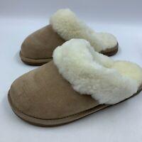 NEW Old Friend womens Large slipper scuff moccasin sheepskin sherpa warm