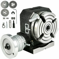 """Rotary Table 4"""" 4-Slot Horizontal Vertical Dividing Plates for Milling Machine"""