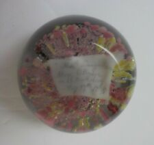 American Novelty Art Glass Paperweight, Personalized, Dated 1875