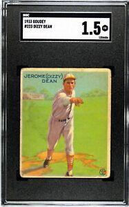 1933 Goudey #223 Dizzy Dean SGC 1.5