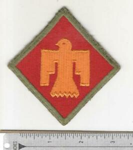 WW 2 US Army 45th Infantry Division Green Border NOT OD Patch Inv# N243